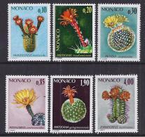 CACTUS - MONACO 1974 - Yvert #997/1002 - MNH ** - Cactus