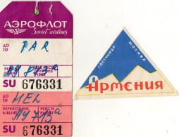 ETIQUETTES A BAGAGES  Aéroflot   (lot De 2) - Étiquettes à Bagages