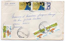 Brésil-1976--Lettre RECIFE Pour PARIS (France) -composition De Timbres-cachets - Cartas