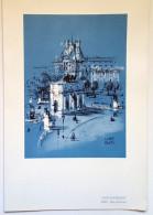 """MENU/AIR FRANCE/affichiste Pierre Pagès/Série """"Villes""""/Paris/Place Du Carrousel/1965 - Menus"""