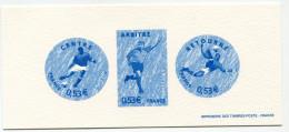 FRANCE GRAVURE OFFICIELLE DU N°3912/3913/3915 EN BLEU COUPE DU MONDE DE FOOTBALL 2006 EN ALLEMAGNE - Coppa Del Mondo