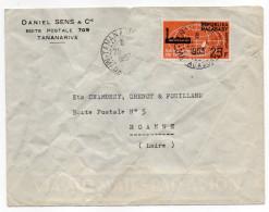 Madagascar--1963--Lettre De Tananarive Pour Roanne-42 (France)-timbre Seul Sur Lettre (foire Internationale) -cachet - Madagascar (1960-...)