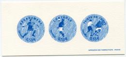 FRANCE GRAVURE OFFICIELLE DU N°3910/3911/3914 EN BLEU COUPE DU MONDE DE FOOTBALL 2006 EN ALLEMAGNE - Coppa Del Mondo