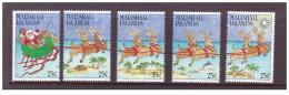 Isole Marshall - 1988 - Nuovo/new MNH - Natale - Mi N. 189/93 - Marshall