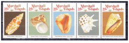 Isole Marshall - 1989 - Nuovo/new MNH - Conchiglie - Mi N. 212/16 - Marshall