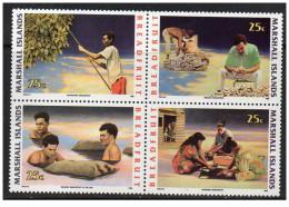Isole Marshall - 1990 - Nuovo/new MNH - Lavori Tipici - Mi N. 334/37 - Marshall