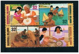 Isole Marshall - 1996 - Nuovo/new MNH - Artigianato - Mi N. 776/79 - Marshall