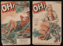 Oh! NN°14 Novembre 1949  Revue Légère Ancienne Bd Nus Humoristiques Nouvelles Frédéric Dard Etc Port Fr Métr  2,72€ - Livres, BD, Revues