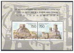 San Marino - 1996 - Nuovo/new MNH - Emissione Congiunta Cina - Mi Bl 20 - San Marino