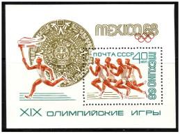 URSS - 1968 - Usato/used - Olimpiadi - Mi Bl 51 - 1923-1991 USSR