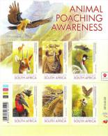 South Africa 2015 Fauna Birds Lizard Rhinoceros SS MNH - Vögel