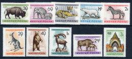 HUNGARY 1961  Budapest Zoo Set MNH / **.  Michel 1727-36 - Hungary