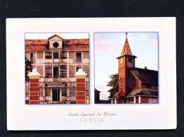 FRENCH GUIANA  -  Saint Laurent Du Maroni  Dual View  Used Postcard As Scans - Saint Laurent Du Maroni