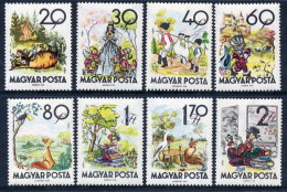 HUNGARY 1960 Fairy Tales Set MNH / **.  Michel 1718-25 - Fairy Tales, Popular Stories & Legends
