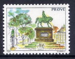 DENMARK 1980 Test Stamp MNH/ ** - Proofs & Reprints