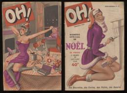 Oh! N°15 Décembre 1949  Revue Légère Ancienne Bd Nus Humoristiques Nouvelles Frédéric Dard Etc Port Fr Métr  2,72€ - Livres, BD, Revues