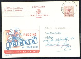 "CP Public. N° 1727 "" PUDDING PRIMELA "" - Circulé / Circulated - 1960. - Entiers Postaux"