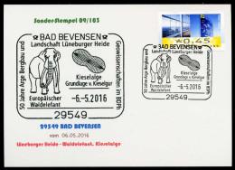 93304) BRD - Karte - SoST In 29549 BAD BEVENSEN Vom 06.05.2016 - Kieselalge, Europäischer Waldelefant - [7] West-Duitsland