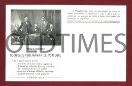 PORTO - SOCIEDADE VEGETARIANA DE PORTUGAL - FUNDADORES - 1910 PC - Porto