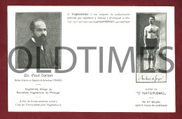 PORTO - SOCIEDADE VEGETARIANA DE PORTUGAL - DR. PAUL CARTON - AMILCAR DE SOUZA - 1910 PC - Porto