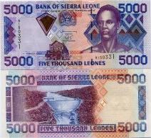 SIERRA LEONE       5000 Leones       P-27b       1.3.2003       UNC - Sierra Leone