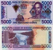 SIERRA LEONE       5000 Leones       P-27c       4.8.2006       UNC - Sierra Leone