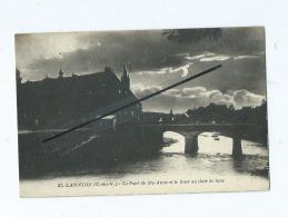 CPA   -  Lannion  - Le Pont De Ste Anne Et Le Guer Au Clair De Lune - Lannion