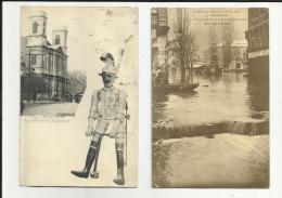 25 -Doubs - Besançon - Lot De 2 Cartes -Le Jacquemard - Inondations Rue Claude Pouillet - - Besancon