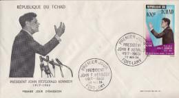 Enveloppe  FDC  1er  Jour    TCHAD    Président   John  KENNEDY   1964 - Kennedy (John F.)