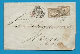 ETOILE 24  PARIS - R. DE CLERY Pour Vienne (Wien) - Autriche - Marcophilie (Lettres)
