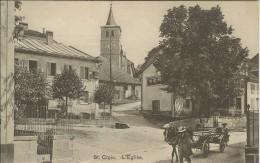 Suisse - Canton De Vaud - Sainte Ou St. Croix - L'église, Char Tiré Par Un Cheval Au Premier Plan - VD Vaud