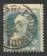 Belgium,  25 C. 1905, Sc # 87, Mi # 73, Used - 1905 Thick Beard