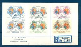 1959 , BERMUDA , SOBRE DE PRIMER DIA CIRCULADO ENTRE HAMILTON Y KINGSTON , ESCUDOS - Bermudas