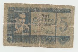 Austria 5 Schilling 1945 G-VG Banknote Pick 121 - Austria