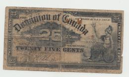 CANADA 25 CENTS 1900 G-VG Pick 9b 9 B - Canada