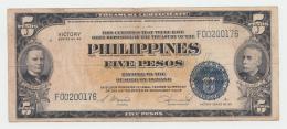 Philippines 5 Pesos 1944 VF Banknote Pick 96 - Philippinen