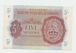 BRITISH MILITARY AUTHORITY 5 SHILLINGS 1943 XF+ Pick M4 - Autorità Militare Britannica