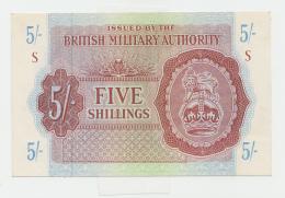 BRITISH MILITARY AUTHORITY 5 SHILLINGS 1943 AUNC+ Pick M4 - Autorità Militare Britannica
