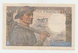 France 10 Francs1949 AXF (Short Snorter) Pick 99f  99 F - 1871-1952 Anciens Francs Circulés Au XXème