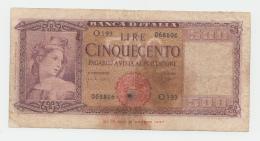 Italy 500 Lire 1961 VG Pick 80b 80 B - [ 1] …-1946 : Koninkrijk