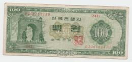 SOUTH KOREA 100 WON 1964 VF Pick 35c 35 C - Corée Du Sud