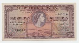 BRITISH BERMUDA 5 SHILLINGS 1957 XF Pick 18b 18 B - Bermudas