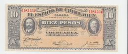Mexico 10 Pesos 1914 UNC NEUF - Mexico