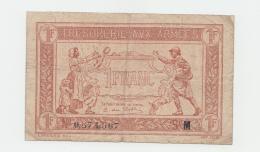 "FRANCE 1 FRANC TRESORERIE AUX ARMEES 1917 ""VG"" Pick M2 - Treasury"