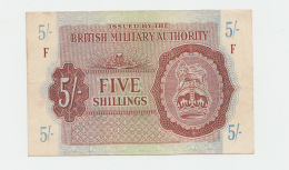 Great Britain British Military Authority 5 Shillings 1943 VF++ Pick M4 - Military Issues