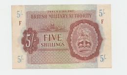 Great Britain British Military Authority 5 Shillings 1943 VF++ Pick M4 - Autorità Militare Britannica