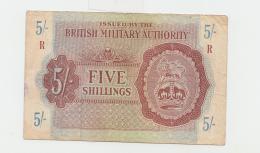 Great Britain British Military Authority 5 Shillings 1943 VF Pick M4 - Autorità Militare Britannica