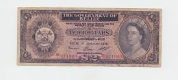 """Belize 2 Dollars 1976 """"F"""" Banknote Pick 34c  34 C - Belize"""