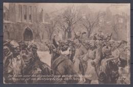 Lyck,   Der Kaiser Unter Den Siegreichen Truppen Nach Der Winterschlacht In Masuren     Gel.  1917     Feldpost - Militaria