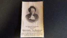 Marie-Louise VAN HOOREBEECK. 106 JARIGE.Geb TeSt Gillis Dendermonde 1833. Overl Te Oostende 1939. 2 Scans - Images Religieuses